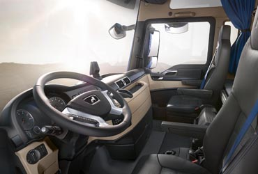 Cab of MAN TGX PerformanceLine edition