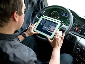 Exercice de conduite avec le MAN ProfiDrive®: camions