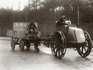MAN's motorised plough from 1921