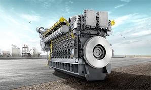 MAN large bore liquid fuel engines