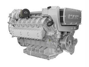 MAN's 12-cylinder Marine engine D2862 LE44x